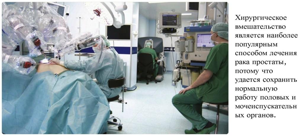 Лечение рака простаты хирургическим путем