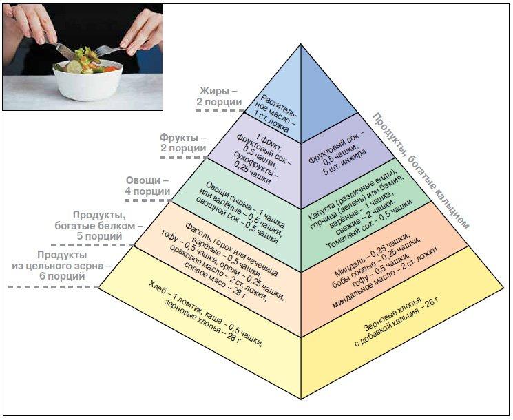 Вегетарианская пирамида питания