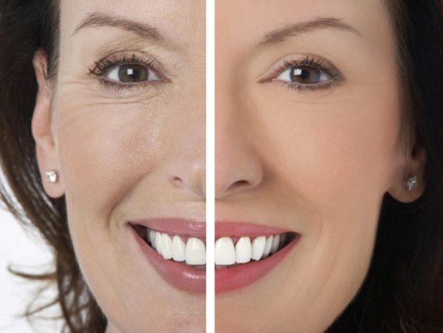 Фото лица до и после применения кунжутного масла