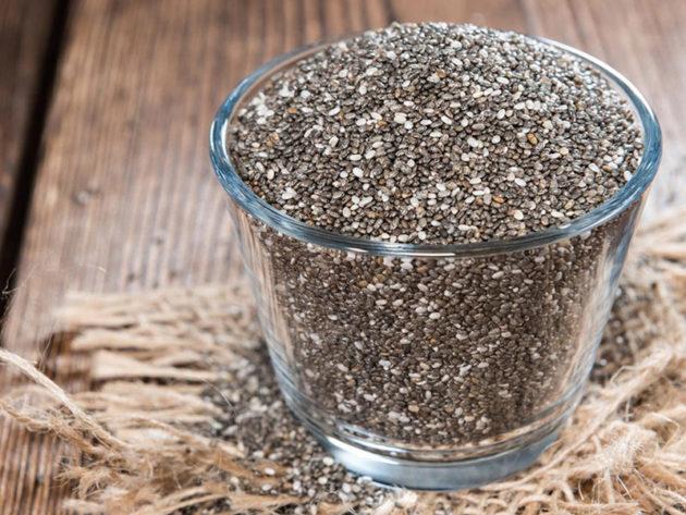 Семена чиа в сухом виде