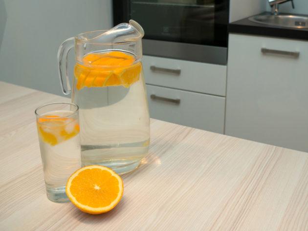 Берёзовый сок с апельсином