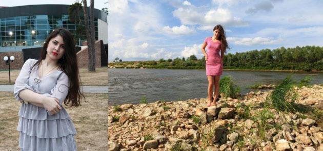 Фото девушки до и после снижения веса с помощью яблочных разгрузочных дней