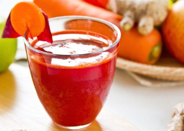 Стакан овощного сока