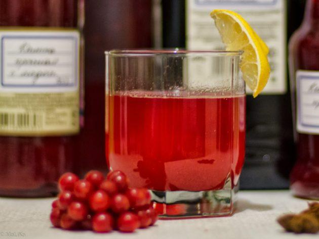 Сок калины с лимоном