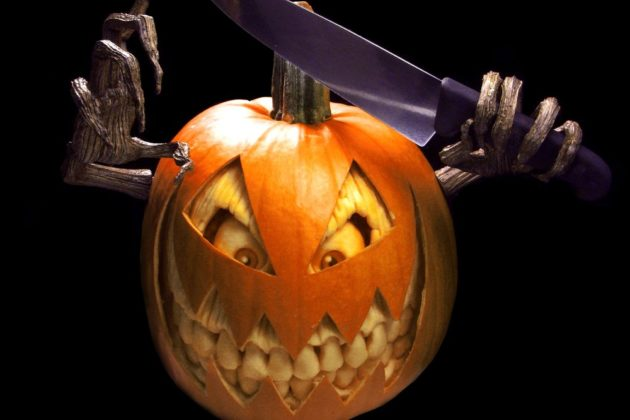 Чудище из тыквы для Хеллоуина