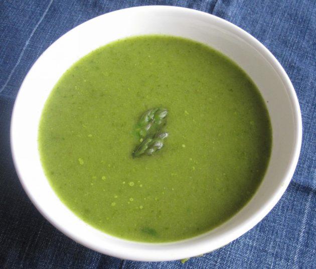 Диетический суп со спаржей