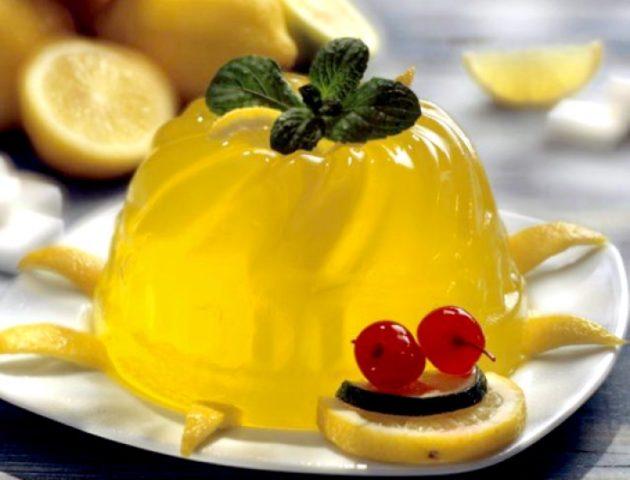 Яично-лимонное желе