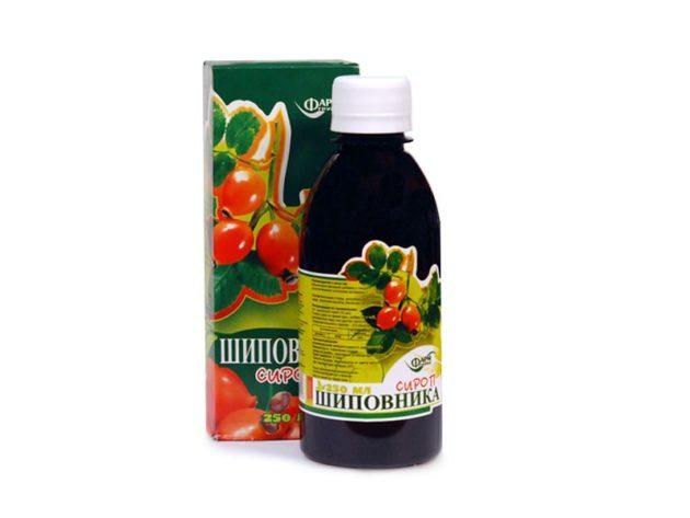 Аптечный сироп из плодов шиповника