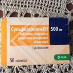 Сульфасалазин-ен инструкция по применению, противопоказания, побочные эффекты, отзывы