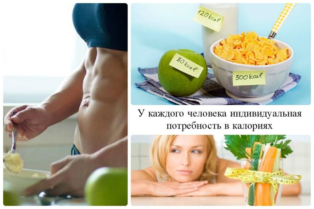У каждого человека индивидуальная потребность в калориях
