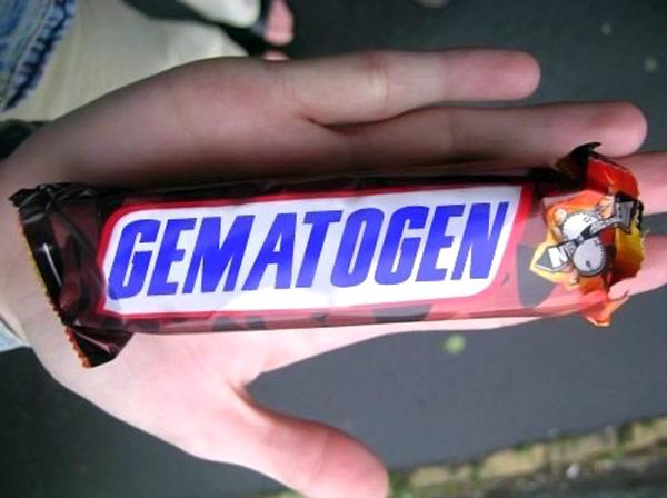 Батончик гематогена