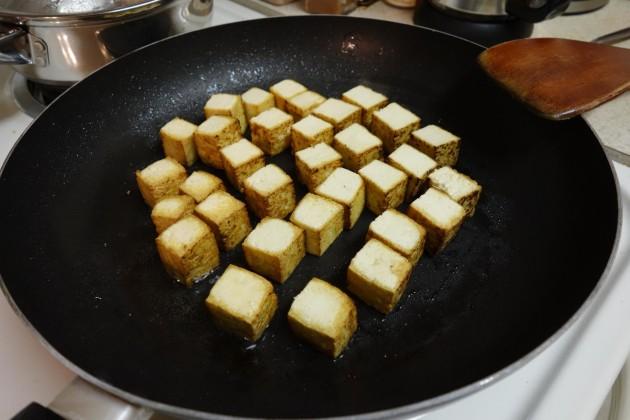 Жарка тофу