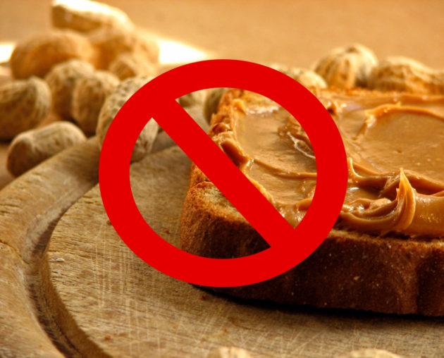 Запрет употребления арахисовой пасты