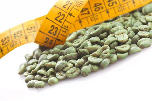 Зелёный кофе и сантиметровая лента