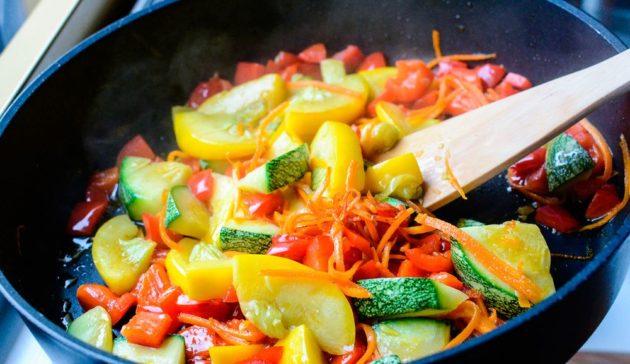 Блюдо с кабачком