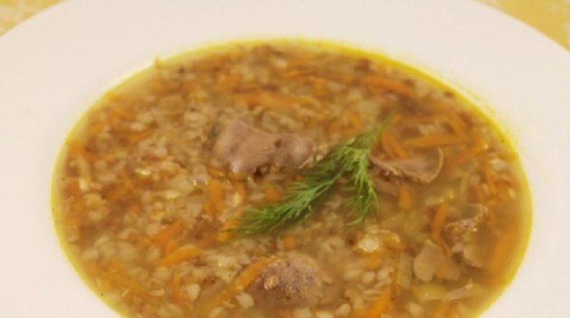 Диетический суп с гречкой, овощами и курицей