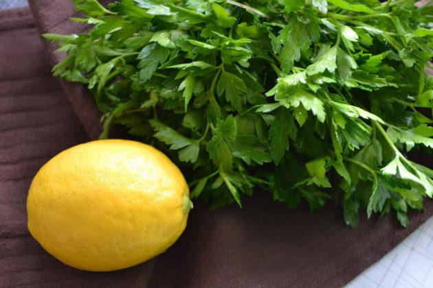 Лимон и зелень