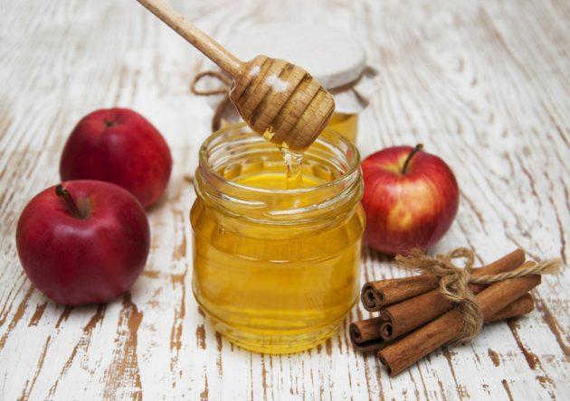 Мёд, корица, яблоки