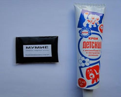Мумиё и детский крем