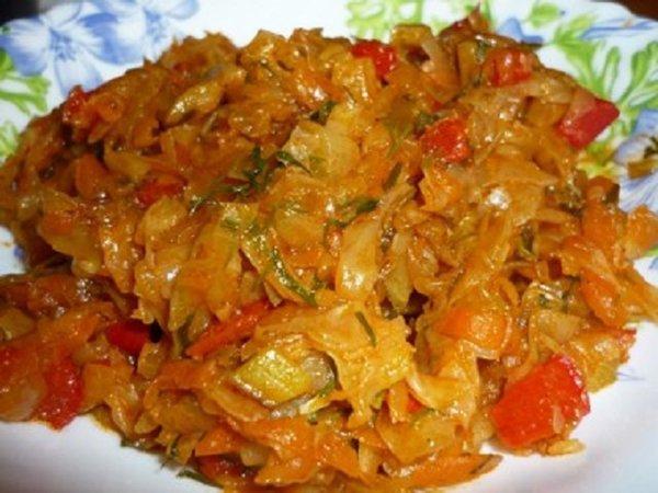 рецепт капуста тушеная с кабачками