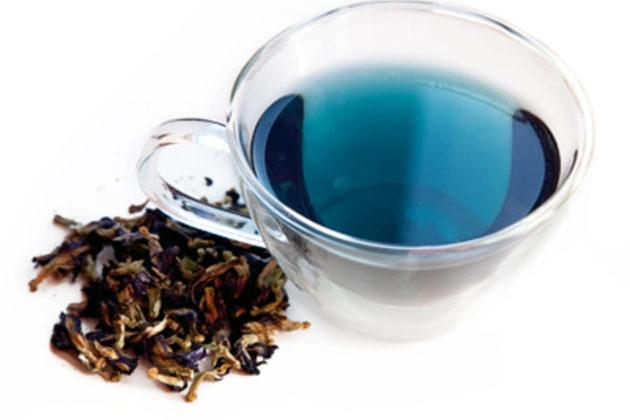 Применение синего чая для волос