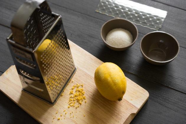 Обработка замороженного лимона