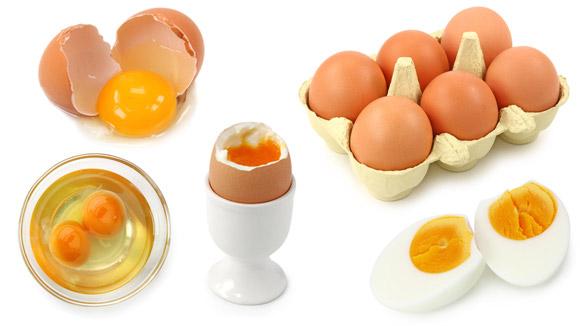 Сырые яйца и сваренные вкрутую