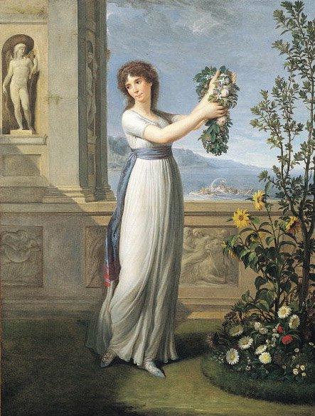 Картина А. Аппиани «Жозефина с венком»,1796