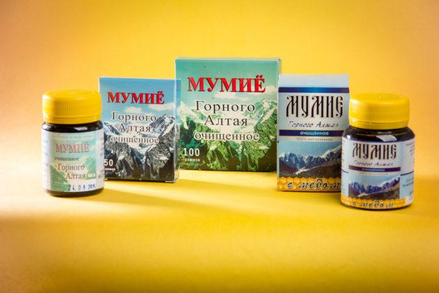 Аптечные препараты с мумиё