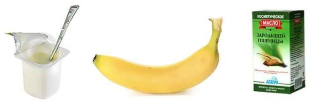 Кефир, банан и масло пшеницы